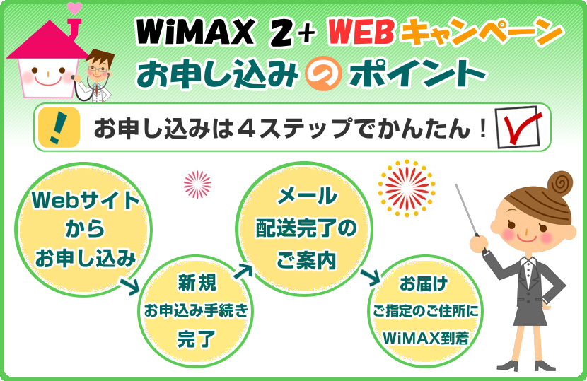 WiMAX 2+ お申し込み